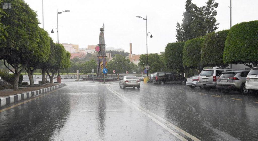 """""""الأرصاد"""": أمطار رعدية على منطقة عسير حتى الـ 7 مساء"""