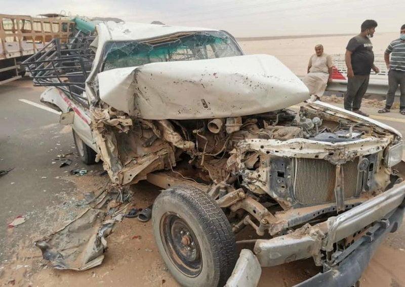 حادثان جماعيان على طريق مهد الذهب السويرقية بسبب الغبار
