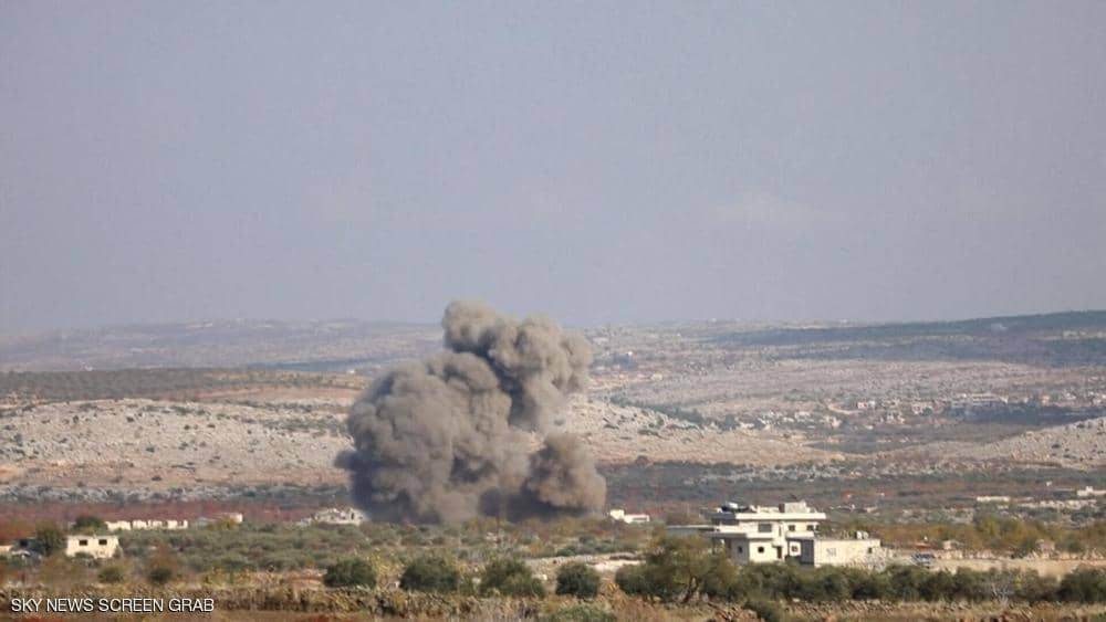 غارات روسية قرب نقطة عسكرية تركية شمالي سوريا