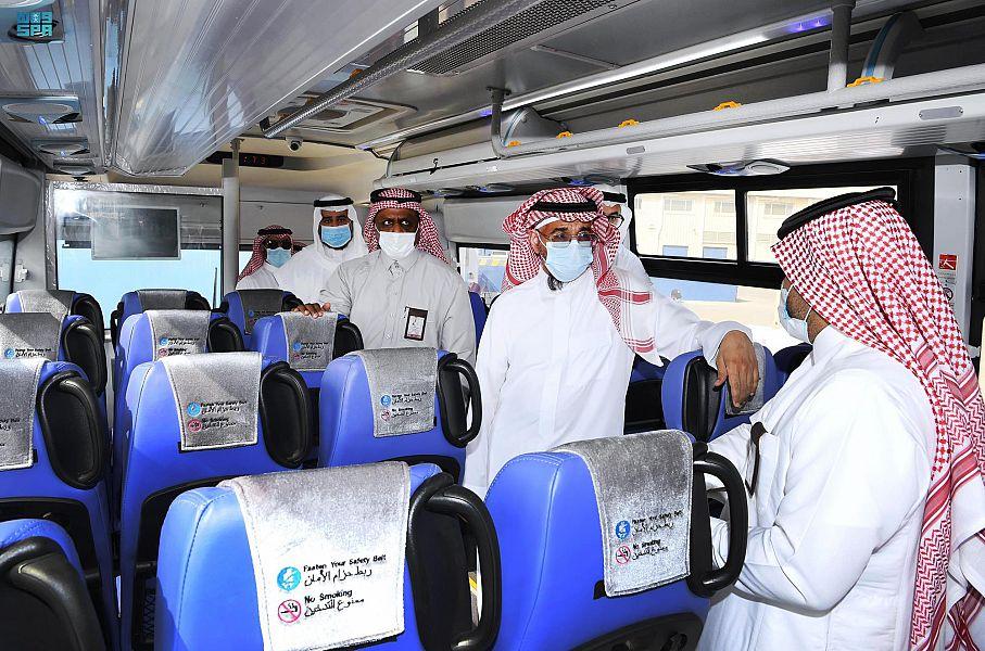 تدشين مشروع حافلات النقل المدرسي بالهيئة الملكية بينبع