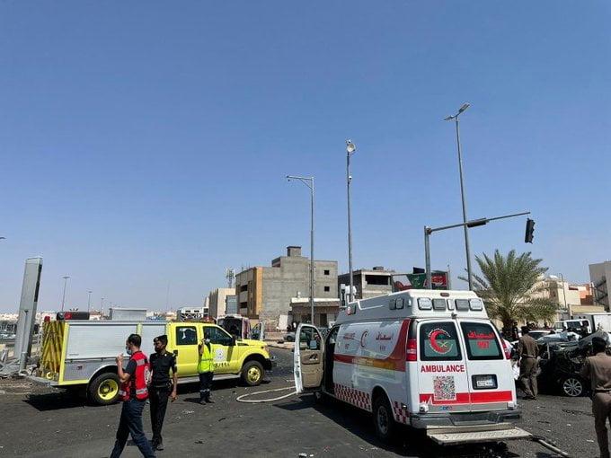 4 وفيات و5 إصابات إثر حادث مروع بطريق الدائري الثاني بالمدينة