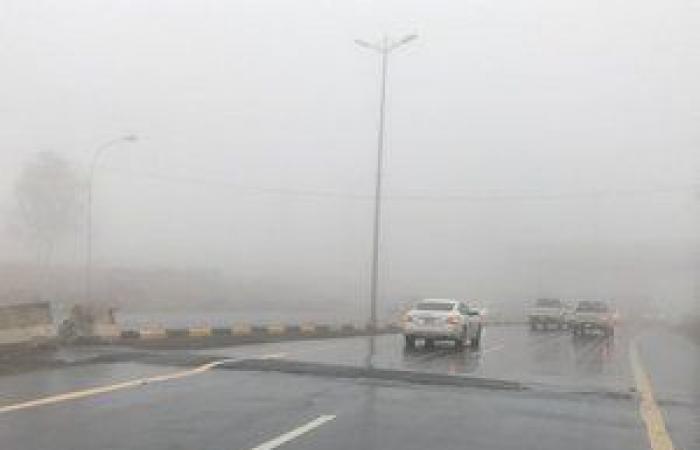 """""""الأرصاد"""": تدني مستوى الرؤية وسقوط أمطار غزيرة على منطقة عسير"""